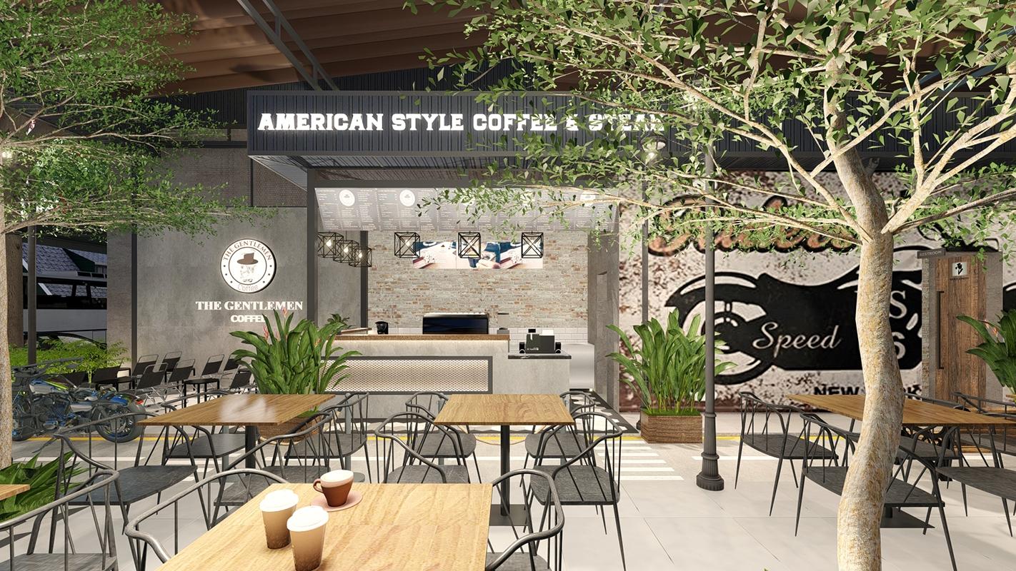 Nội thất quán coffe The Gentlement