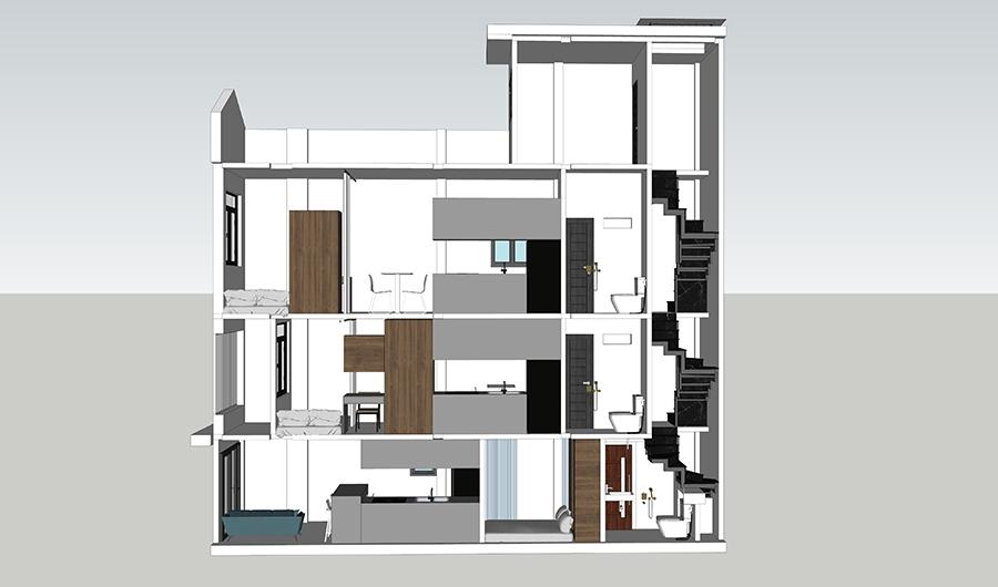 Thiết kế cải tạo nhà phố siêu mỏng quận 3