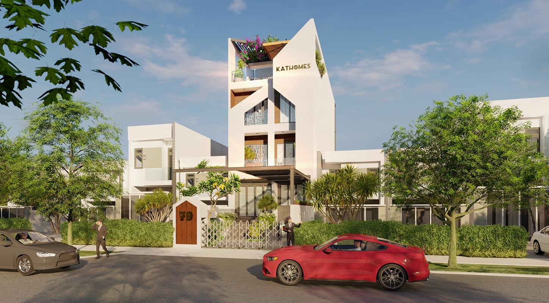 Thiết kế xây dựng nhà phố trọn gói sang trọng