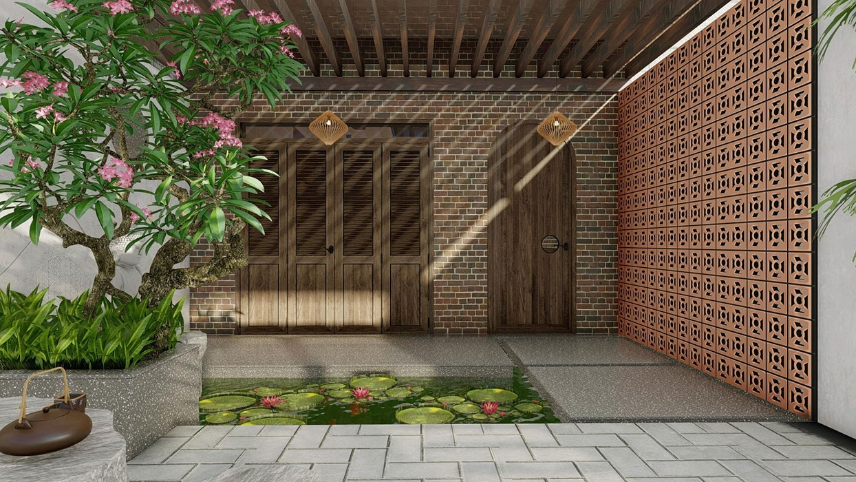 Xây dựng sân vườn hợp phong thủy