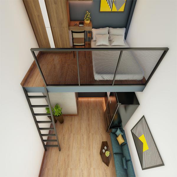 Mẫu nhà trọ đẹp theo kiểu căn hộ mini