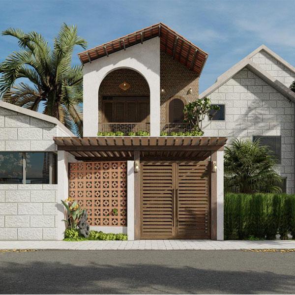 Thiết kế thi công xây nhà phố 2 tầng tại Bình Dương